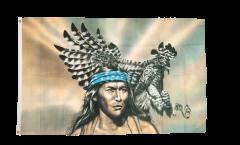 Drapeau Indien avec aigle