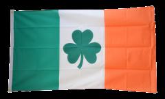 Drapeau Irlande avec le symbole du Shamrock