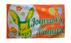Drapeau Joyeuses Pâques - 90 x 150 cm