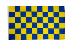Drapeau Damier Bleu-Jaune