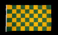 Drapeau Damier Vert-Jaune