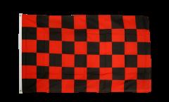 Drapeau Damier Rouge-Noir