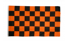 Drapeau Damier Noir-Orange
