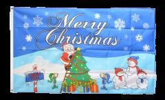Drapeau Merry Christmas Pôle Nord