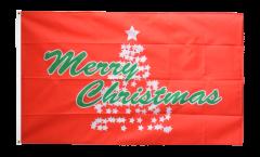 Drapeau Merry Christmas Arbre de Noël - 90 x 150 cm