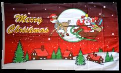 Drapeau Merry Christmas Père Noël rouge