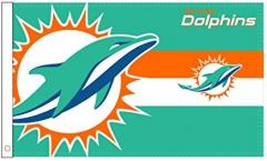 Drapeau NFL Miami Dolphins Logo - 90 x 150 cm