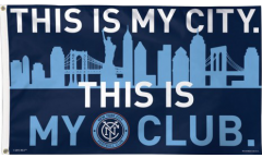 Drapeau MLS New York City FC - 90 x 150 cm