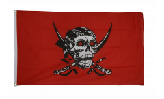 Drapeau Pirate rouge