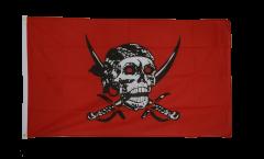 Drapeau Pirate rouge