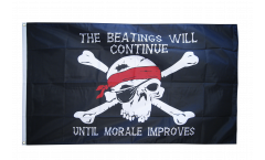 Drapeau Pirate Beatings will continue 2 - 90 x 150 cm