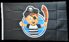 Drapeau Pirate Garçon - 90 x 150 cm
