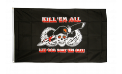 Drapeau Pirate Kill 'em all - 90 x 150 cm