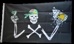 Drapeau Pirate avec bière