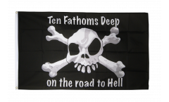 Drapeau Pirate ten fathoms deep - 90 x 150 cm