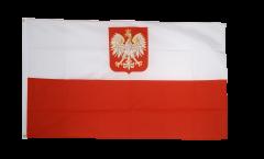 Drapeau Pologne avec aigle
