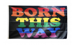 Drapeau Arc en ciel Born This Way - 90 x 150 cm