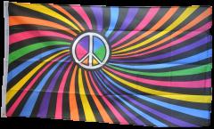 Drapeau Arc en Ciel Peace Swirl - 90 x 150 cm