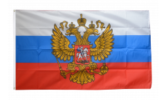 Drapeau Russie avec blason