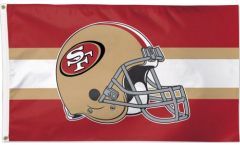 Drapeau NFL San Francisco 49ers Casque - 90 x 150 cm