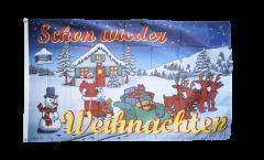 Drapeau Joyeux Noël Schon wieder Weihnachten - 90 x 150 cm