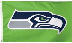 Drapeau NFL Seattle Seahawks Vert - 90 x 150 cm