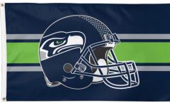 Drapeau NFL Seattle Seahawks Casque - 90 x 150 cm