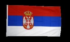 Drapeau Serbie avec blason