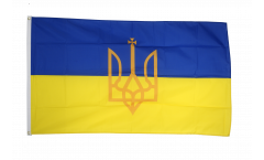 Drapeau Ukraine avec Blason