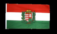 Drapeau Hongrie avec Blason