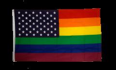 Drapeau USA Etats-Unis Arc en Ciel - 90 x 150 cm