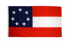 Drapeau confédéré USA Sudiste Stars and Bars 1861