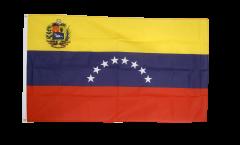 Drapeau Venezuela 8 Etoiles avec Blason