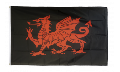 Drapeau Dragon gallois noir