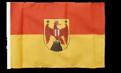 Drapeau Autriche Burgenland avec ourlet