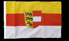 Drapeau Autriche Carinthie Kärnten avec ourlet