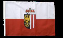 Drapeau Autriche Haute-Autriche avec ourlet