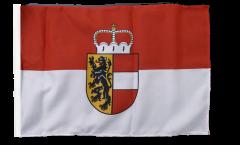 Drapeau Autriche Salzbourg avec ourlet