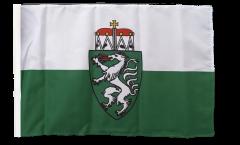 Drapeau Autriche Styrie Steiermark avec ourlet