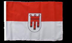 Drapeau Autriche Vorarlberg avec ourlet