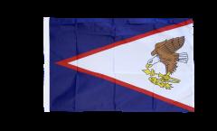 Drapeau Samoa américaines avec ourlet