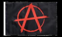 Drapeau Anarchie rouge avec ourlet