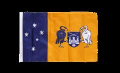 Drapeau Australie Territoire de la capitale australienne avec ourlet