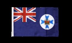 Drapeau Australie Queensland avec ourlet