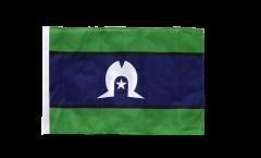 Drapeau Australie Torres Strait Islands avec ourlet