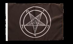 Drapeau Baphomet Église de Satan avec ourlet