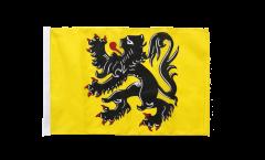 Drapeau Belgique Flandre avec ourlet