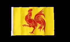Drapeau Belgique Wallonie avec ourlet