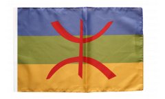 Drapeau Berbère Amazigh avec ourlet
