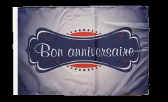Drapeau Bon Anniversaire avec ourlet